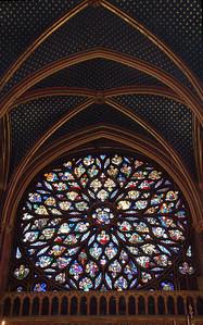 Rose Window ( Upper Church of Ste. Chapelle )--Paris