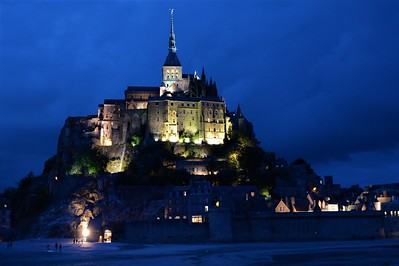 Jeweled Night--Mont Saint-Michel