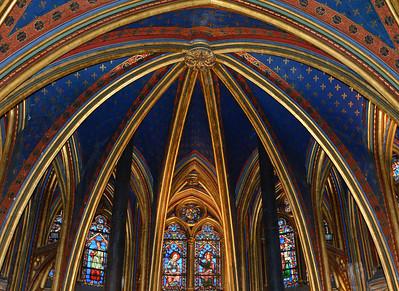 Lower Church of Ste. Chapelle--Paris