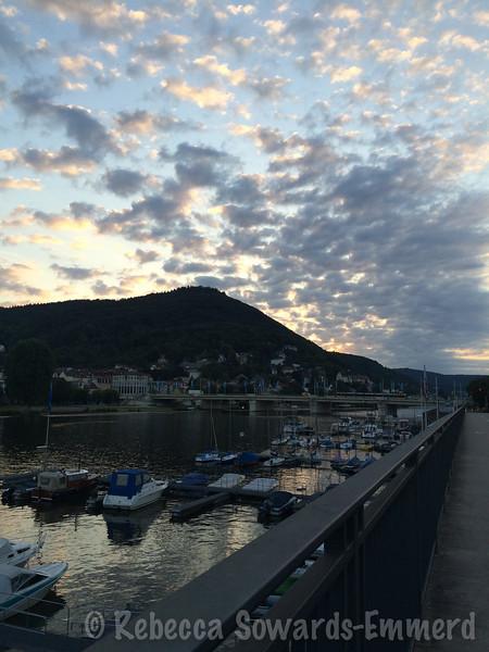 Early morning light along the Neckar river.