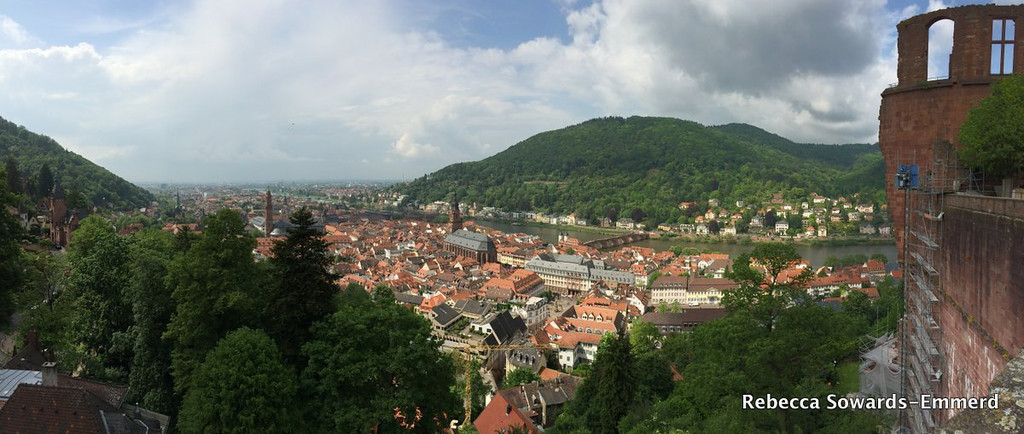 Panorama of Heidelberg from the castle