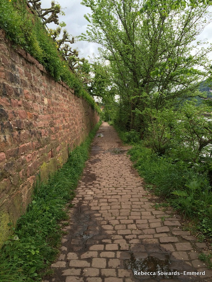 Walking an old path along the river.