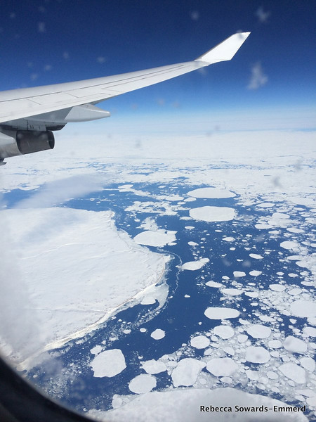 Flying over Hudson Bay