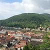 View of Heiligenberg, yesterday's hike, from the Heidelberg Castle Grounds