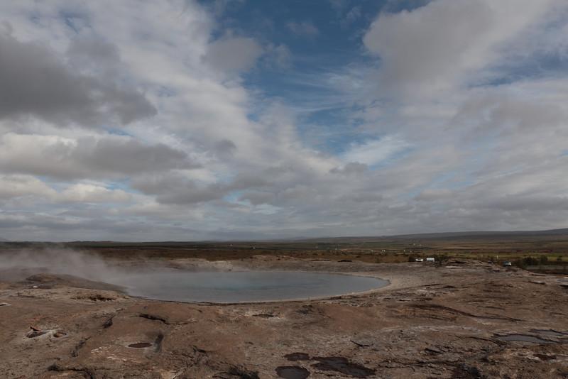 An extinct geyser at Gysir