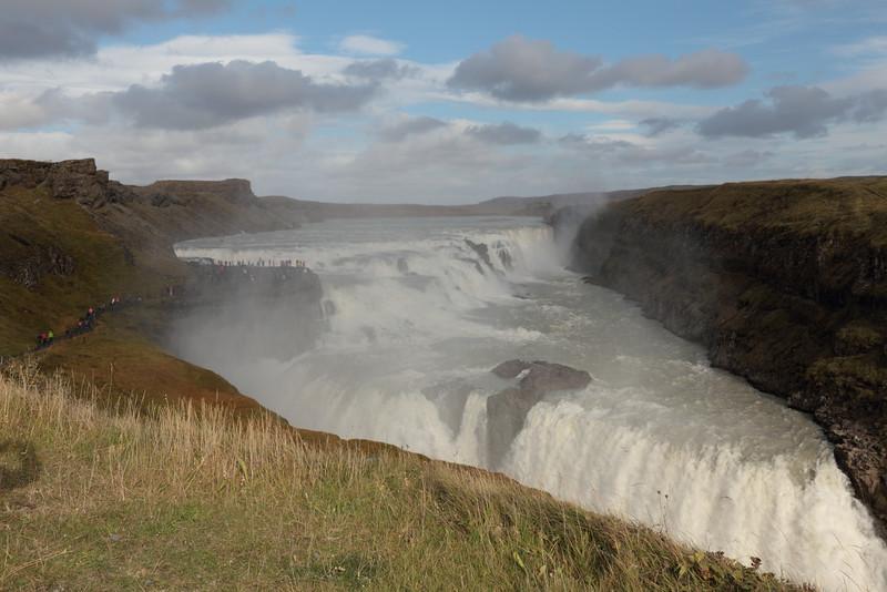 """Gullfoss.  Waterfall along the """"Golden Circle."""""""