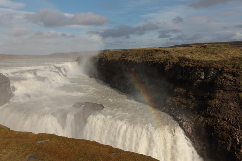 Double Rainbow at Gullfoss.