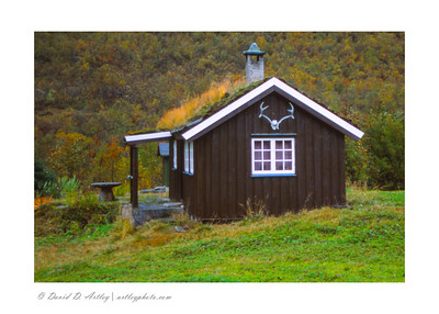 Barn with Turf covered roof, Norway