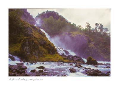 Latefoss Waterfall, near Odda, Norway