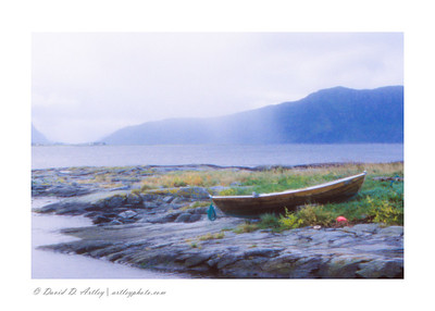 Skiff on the beach, Alesund, Norway