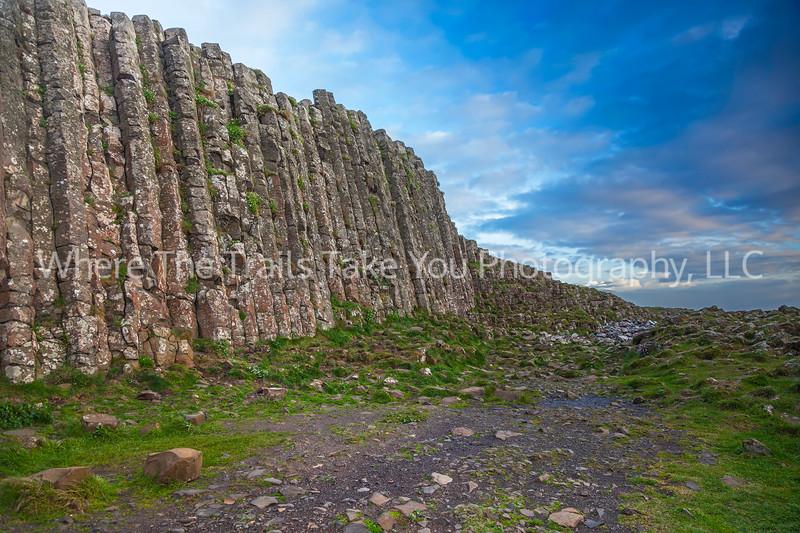 Columnar Basalt Wall