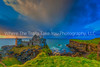 46  Sunset and Clouds on Dunluce Castle, Northern Ireland.