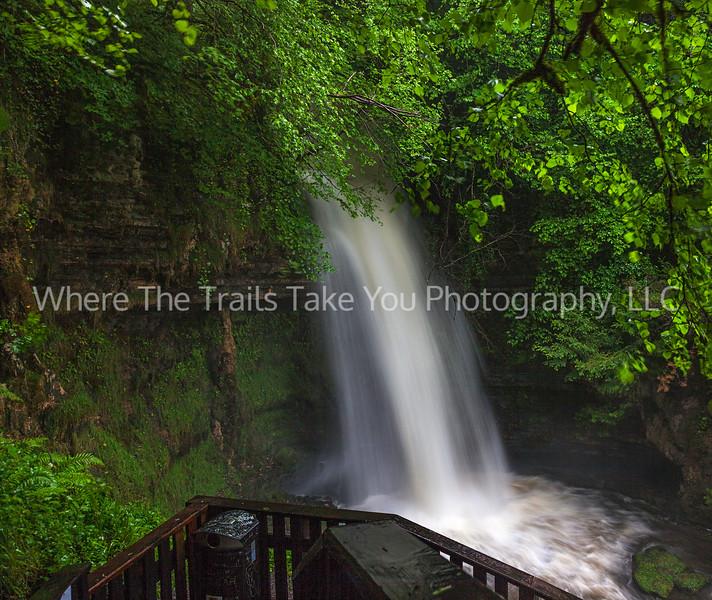 78  Peat-Tinged Glencar Falls on a Rainy, Windy Day
