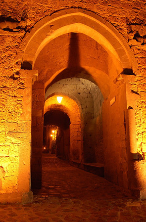 Nocturnal Entrance to Civita di Bagnoregio