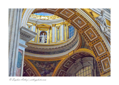 Details inside Saint Peter's Bascilica, Vatican, Rome, Italy