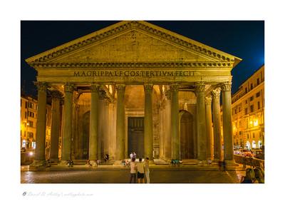 Pantheon at night, Rome, Italy