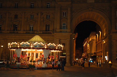 Piazza Republica--Florence, Italy