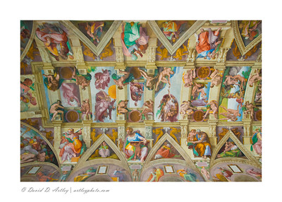 Michelangelo's Ceiling of Sistine Chapel, Vatican, Rome, Italy