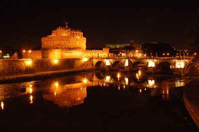 Castel San`Angelo Reflected---Rome