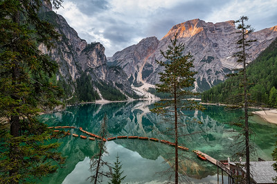 Hint of Alpenglow at Lago di Braies