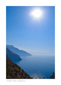Sun over the Amalfi Coast, Italy