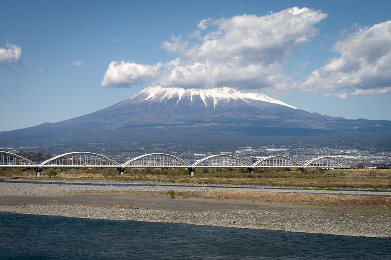 Japan, Fuji - Fujisan from the shinkansen