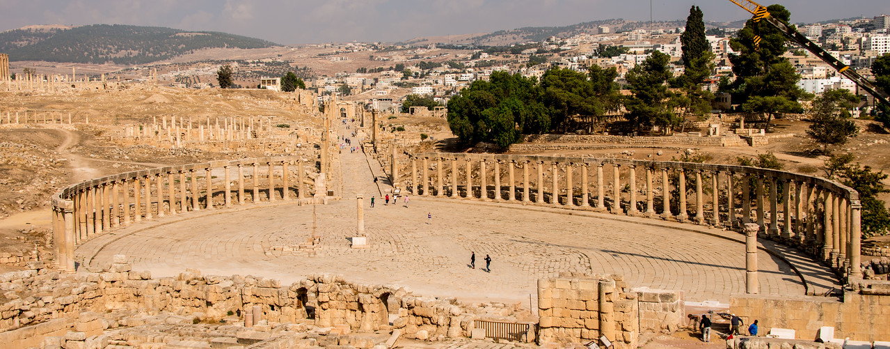 The Forum and Cardo. Jerash, Jordan.. Jerash, Jordan.. Jerash, Jordan.