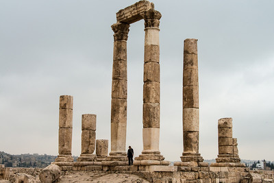 Temple of Hercules. The Citadel, Amman, Jordan