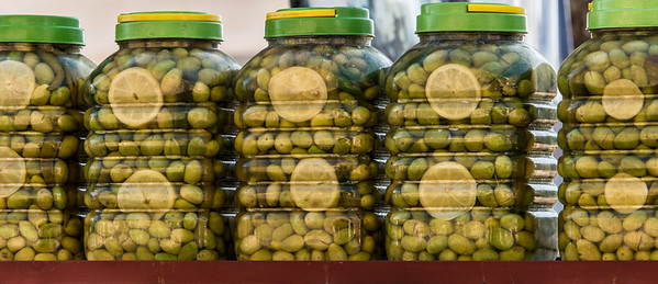 Pickled Olives.  Near Ajloun, Jordan.