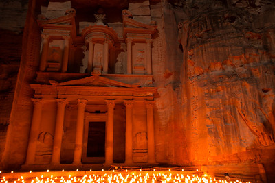 The Treasury. Petra By Night. Petra, Jordan.