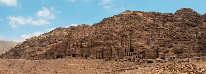 Royal tombs. Petra, Jordan.