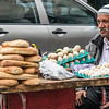 Street vendor near the Roman Theater.  Amman, Jordan.