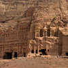 The Palace (left) and Corinthian (right) tombs. Petra, Jordan.