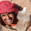 Mohammad, thirsty and trapped under a rock. Near Feynan Ecolodge. Feynan, Jordan.