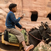 Boy on donkey. Petra, Jordan.