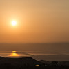 Sunset over the Dead Sea.  Jordan.
