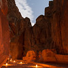 The Siq. Petra By Night. Petra, Jordan.
