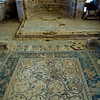 Mosaic floor of the Church of St Stephen.  The largest preseved mosaic in Jordan. Umm Ar-Rasas.  Jordan.