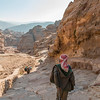 Leaving the Monastery. Petra, Jordan.