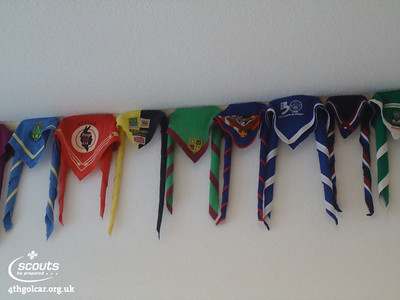 Our necker in the Scout shop in Kandersteg International Scout Centre
