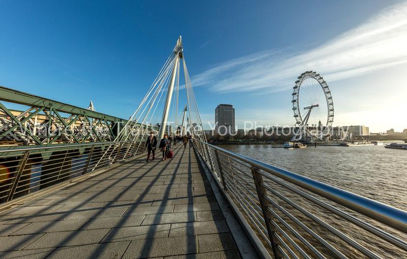 Crossing The Jubilee Bridge