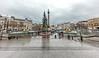 Trafalgar Square On A Rainy Christmas Morning