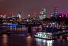 Night Scene Along The Thames