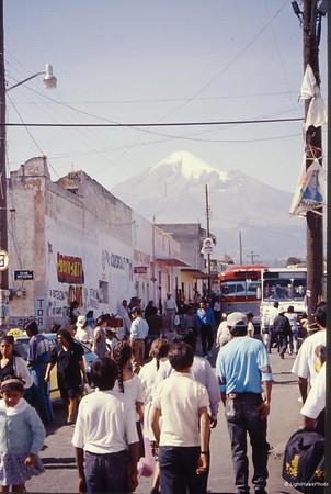 Pico de Orizaba from the town of Tlachichuca