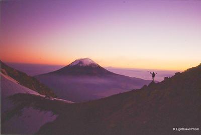 Andy Wright, Ixta sunset.  Mexico 1994