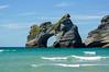 Archway Islands on Wharariki Beach, <br /> Golden Bay, NZ