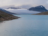 Norway, Styggevatnet - Blue glacial lake with glacier at far end