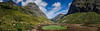 Norway, Geilskredvatnet - Panorama of lake bed and mountains