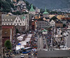 Norway, Bergen - People packing the food festival in Bryggen