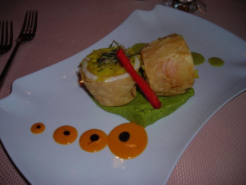 Lunch/dinner at Tambuktu - stuffed calamari.